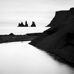Reynisdrangar, Black Beach, Iceland, black and white photography, landscapes