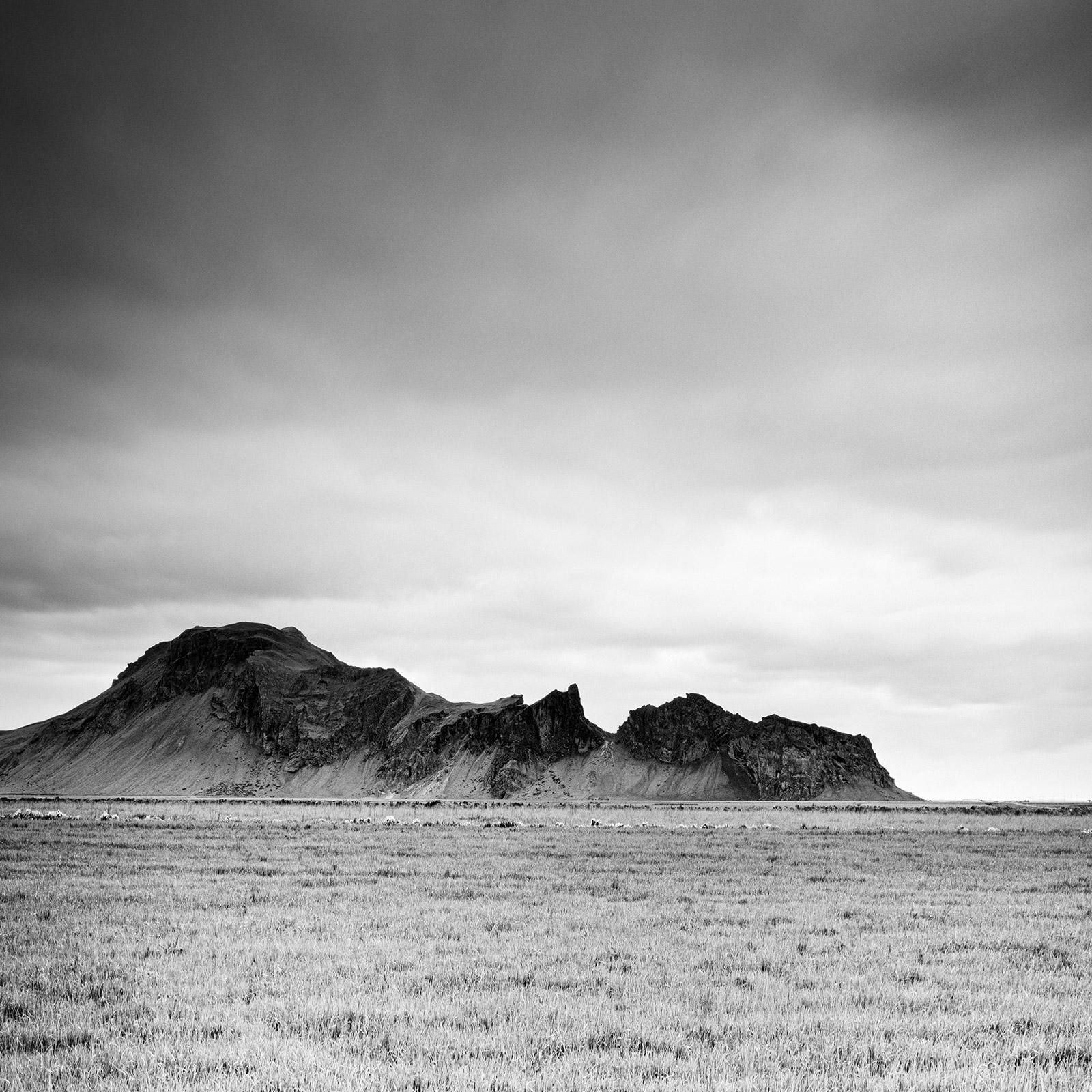 Mountain Meadow, Iceland, contemporary black and white photography, landscapes