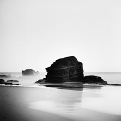 Rocky Beach, Portugal, contemporary black and white photography, landscapes