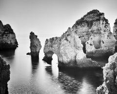 Ponta Da Piedade, Portugal, black and white fine art photography, landscapes
