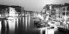 Canal Grande Night, Venice, black and white fine art photography, landscapes