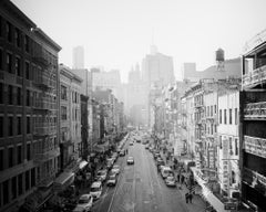 Chinatown, New York City, USA, black and white fine art photography, landscapes