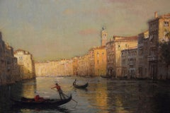 Grand Canal with gondolas in foreground