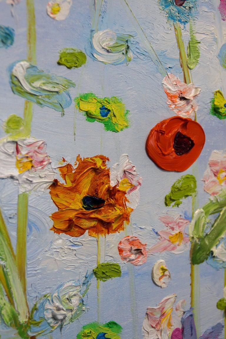 In mijn weg  - Gray Still-Life Painting by Peter Keizer