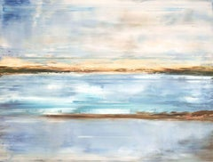 CRYSTAL BLUE by John Beard. Landscape Art, Original and Hand Painted on Canvas