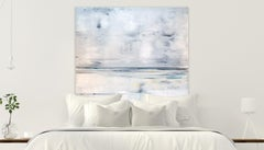LOW TIDE by John Beard. Abstract Ocean Art, Original and Hand Painted on Canvas