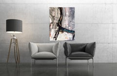 """A CHAIR, Fine Art with Artist Hand Embellished on Giclee Canvas: 48""""H x 36""""W"""