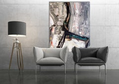 """A CHAIR, Fine Art with Artist Hand Embellished on Giclee Canvas: 60""""H x 40""""W"""