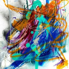 """AGATE, Fine Art with Artist Hand Embellished on Giclee Canvas: 36""""H x 36""""W"""