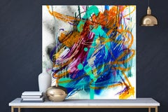 """AGATE, Fine Art with Artist Hand Embellished on Giclee Canvas: 48""""H x 48""""W"""