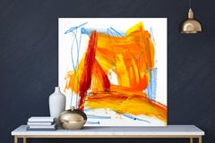 """AMBER, Fine Art with Artist Hand Embellished on Giclee Canvas: 40""""H x 40""""W"""