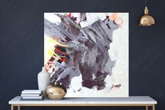 """AMETHYST, Fine Art with Artist Hand Embellished on Giclee Canvas: 40""""H x 40""""W"""