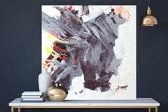 """AMETHYST, Fine Art with Artist Hand Embellished on Giclee Canvas: 48""""H x 48""""W"""