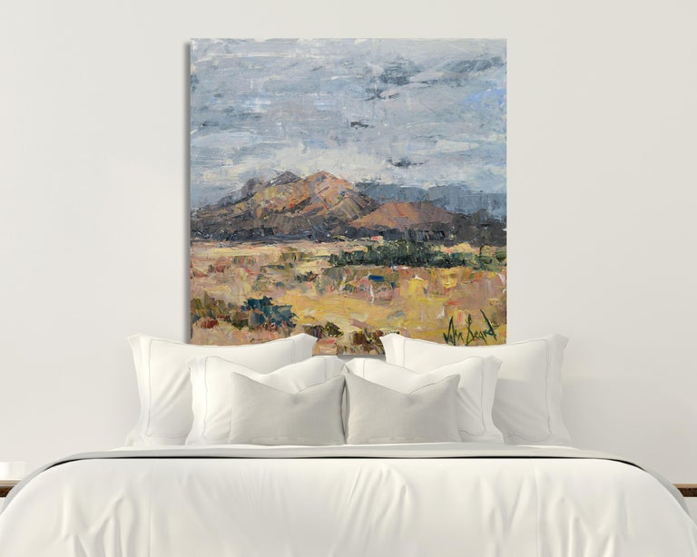 "John Beard Landscape Photograph - A NEW DAY HAS DAWNED, Fine Art with Hand Embellishment on Canvas: 48""H x 48""W"