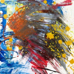 """ARAGONITE, Fine Art with Artist Hand Embellished on Giclee Canvas: 48""""H x 48""""W"""