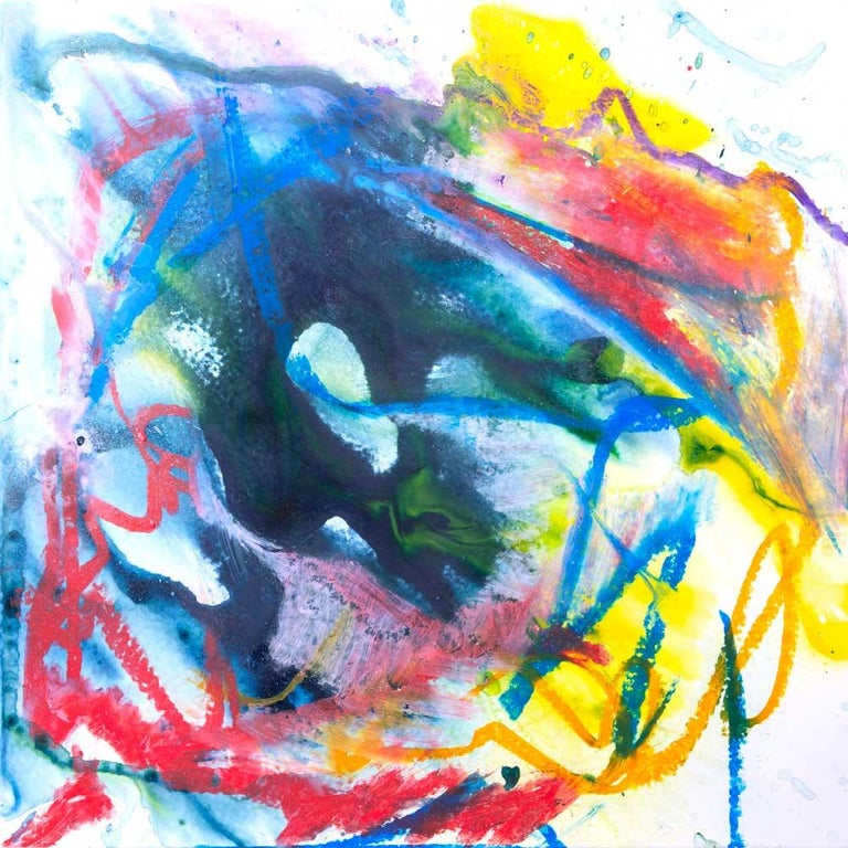John Beard Abstract Painting - AZURITE Fine Art with Artist Hand Embellished on Giclee Canvas and Made to Order