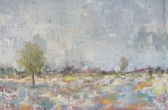 BURST OF SPRING, Fine Art with Hand Embellishment on Giclee Canvas Made to Order