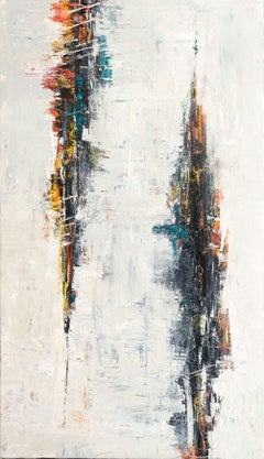 """DISTORTION, Fine Art with Artist Hand Embellished on Giclee Canvas: 96""""H x 48""""W"""