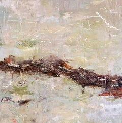 """DUNES, Fine Art with Artist Hand Embellished on Giclee Canvas: 48""""H x 48""""W"""
