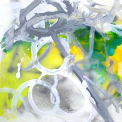 """EMERALD, Fine Art with Artist Hand Embellished on Giclee Canvas: 40""""H x 40""""W"""