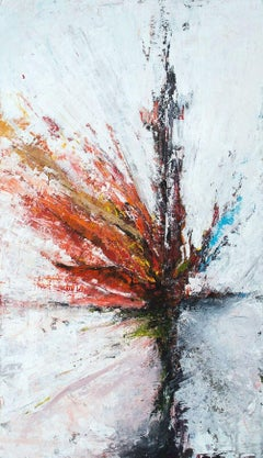 """ENTROPY, Fine Art with Artist Hand Embellished on Giclee Canvas: 60""""H x 40""""W"""