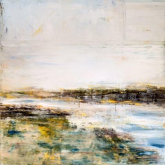 "ESTUARY, Fine Art with Artist Hand Embellished on Giclee Canvas: 40""H x 40""W"