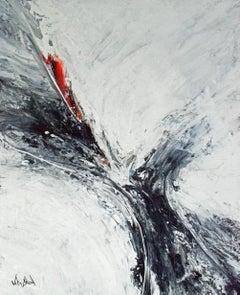 "FATHOM, Fine Art with Artist Hand Embellished on Giclee Canvas: 60""H x 40""W"