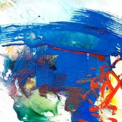 "FLOURSPAR, Fine Art with Artist Hand Embellished on Giclee Canvas: 48""H x 48""W"