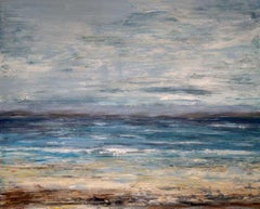 """GRAYSKIES, Fine Art with Artist Hand Embellished on Giclee Canvas: 36""""H x 48""""W"""