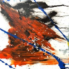 "GYPSUM, Fine Art with Artist Hand Embellished on Giclee Canvas: 24""H x 24""W"