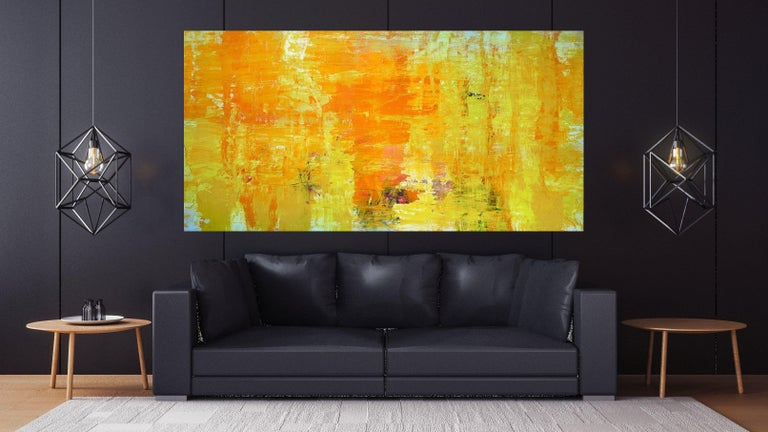 HAPPY, Fine Art with Artist Hand Embellished on Giclee Canvas: 96