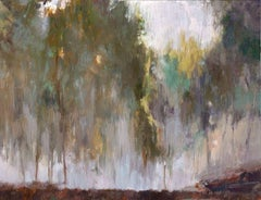 MIST IN THE FOREST, Fine Art with Artist Hand Embellished on Giclee Canvas