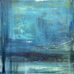 "PURSUIT, Contemporary Blue Ocean Color Fine Art on Giclee Canvas: 40""H x 40""W"