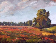 """SEA OF POPPIES, Contemporary Landscape Fine Art on Giclee Canvas: 60""""H x 40""""W"""