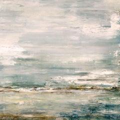 "SEA AND SKY Contemporary Nautical Landscape Fine Art on Giclee Canvas: 40""Hx40""W"