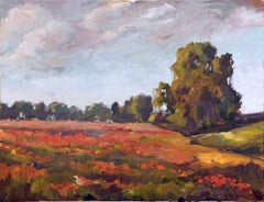 "SEA OF POPPIES Contemporary Rural Landscape Fine Art on Giclee Canvas: 48"" x 36"""