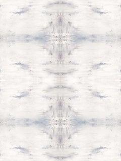 "SKYHAWK, Contemporary White Silver Geode  Fine Art on Giclee Canvas: 48""H x 36""W"