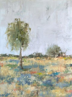 "SPRING DAY I, Contemporary Landscape Fine Art on Giclee Canvas: 48""H x 36""W"