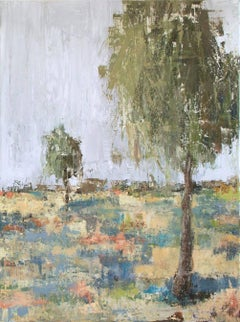 "SPRING DAY II, Contemporary Landscape Fine Art on Giclee Canvas: 48""H x 36""W"