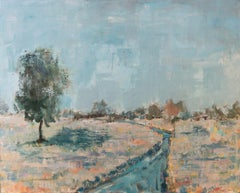 "SPRING RAIN, Contemporary Landscape Fine Art on Giclee Canvas: 48""H x 36""W"