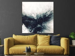 BLACK & GRAY III by John Beard Abstract Art, Original and Hand Painted on Canvas