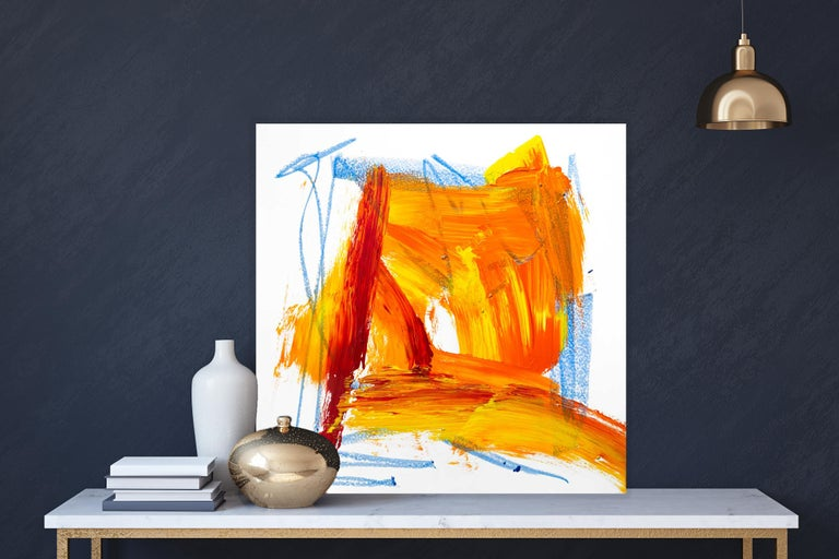 AMBER, Fine Art with Artist Hand Embellished on Giclee Canvas: 36