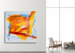 """AMBER, Fine Art with Artist Hand Embellished on Giclee Canvas: 48""""H x 48""""W"""