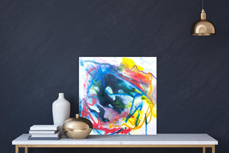 AZURITE Fine Art with Artist Hand Embellished on Giclee Canvas and Made to Order - Painting by John Beard