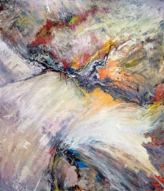 "Bird In Flight, Fine Art with Hand Embellishment on Giclee Canvas: 60""H x 40""W"