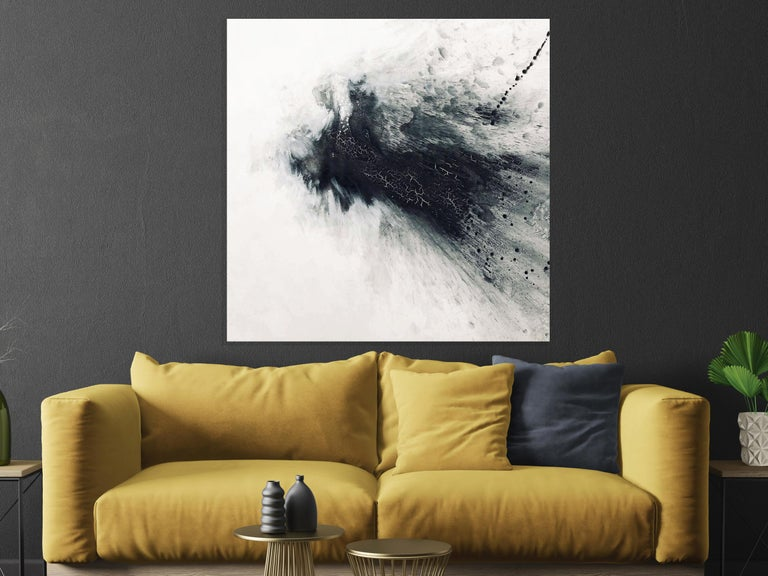 BLACK & GRAY IV, Fine Art with Hand Embellishment on Giclee Canvas Made to Order - Painting by John Beard