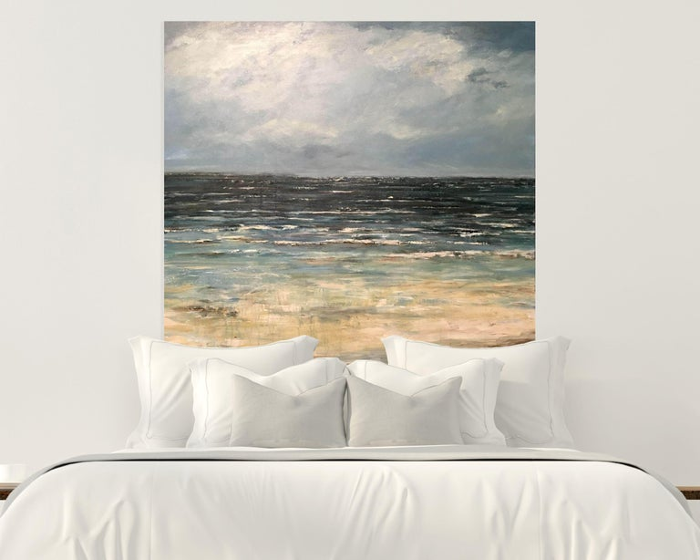 EMERALD SEA, Fine Art with Artist Hand Embellished on Giclee Canvas: 40