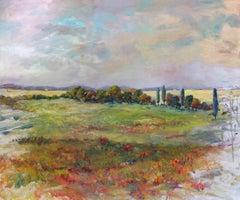 "STAN'S LANDSCAPE, Contemporary Landscape Fine Art on Giclee Canvas: 60""H x 40""W"
