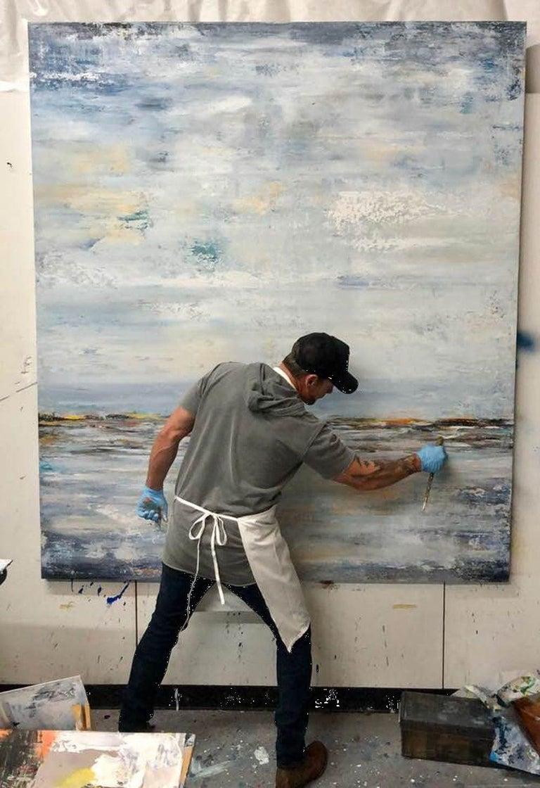STORMY, Contemporary Nautical Beach Fine Art on Giclee Canvas: 72