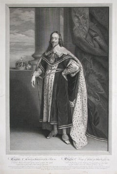 Charles I, line engraving by Robert Strange after the painting by Van Dyck